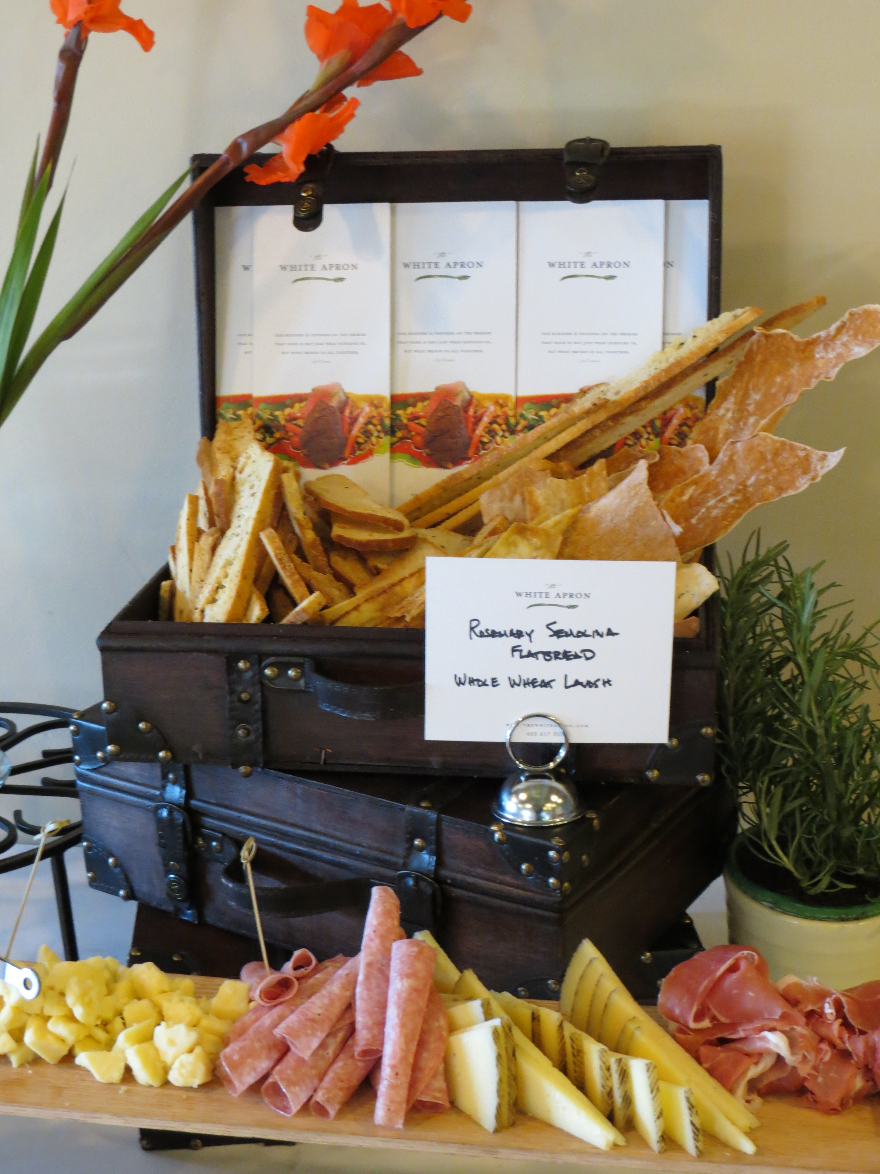 White apron cafe - Suitcase Displays Are All The Rage In Home Decor Why Not In Catering Too